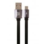 кабель / переходник REMAX King Kong A-C-013 (USB (M) — microUSB (M)), чёрный