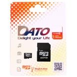карта памяти Dato microSDHC 64Gb Class10 DTTF064GUIC10 + adapter