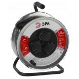 удлинитель электрический ЭРА RM-3-3x1-50m-IP44, металлическая катушка