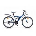 """Велосипед STELS Focus MD 26"""" 21-SP V010 LU088523-LU073823 18"""", чёрны-синий, купить за 14 300руб."""