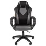 игровое компьютерное кресло Chairman game 17 экопремиум (7024558), черное/серое