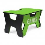 стол компьютерный Generic Comfort Gamer 2/N/E, черно-зеленый