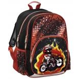рюкзак детский Hama MOTORBIKE черный/красный