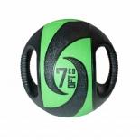 медицинбол Original Fit.Tools FT-DHMB-07 с хватами 7 кг, черно-зеленый