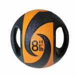 медицинбол Original Fit.Tools FT-DHMB-08 с хватами 8 кг, черно-оранжевый