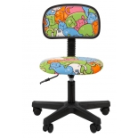 компьютерное кресло Chairman Kids 101 (ткань, 00-07032599), котики, чёрное