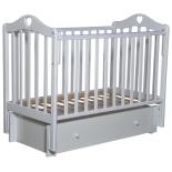 детская кроватка Антел Каролина 4/6, универс. маятник (место 120x60 см, без матраса, ящик), белая
