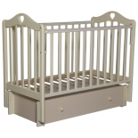 детская кроватка Антел Каролина 4/6, универс. маятник (место 120x60 см, без матраса, ящик), слоновая кость