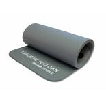 коврик для спорта Original Fit.Tools NBR (12,5 мм) серый с кольцами