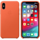 чехол iphone Apple Leather Case для iPhone XS Sunset (MVFQ2ZM/A)
