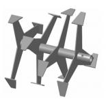 аксессуар к садовой технике фрезы-культиваторы Carver ФМК 25.360.230 (пара), гусиные лапки, для мотокультиватора Крот