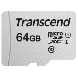 карта памяти Transcend microSDXC TS64GUSD300S, 64GB (Class 10 UHS-I U1, TLC)