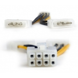 кабель (шнур) переходник Cablexpert CC-PSU-81, доп.питание видеокарты (2 x Molex 4 pin — PCI-E 8 pin)