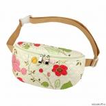 сумка NOSIMOE 092-11D пояс стег (цветы_желт-роз)