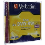 оптический диск Verbatim DVD+RW 1.46 Гб (4x, jewel case), 1шт.