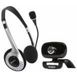 web-камера SVEN IC-H3300 Black (640x480, USB,  с  гарнитурой)