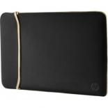 сумка для ноутбука HP Chroma Sleeve 2UF59AA (чехол), черный/золотистый