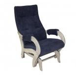 кресло-качалка Мебель Импэкс глайдер МИ Модель 708 Verona Denim Blue, шампань патина