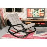 кресло-качалка Мебель Импэкс  Онтарио МИ каркас венге-структура, эко кожа, Шоколад