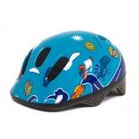 шлем велосипедный 80028-S детский сине-голубой с дельфинами