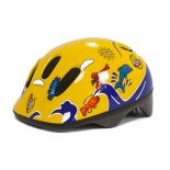 шлем велосипедный 80029-M детский желто-синий с дельфинами