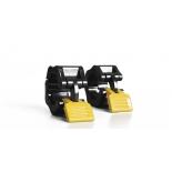 спортивный товар Original FitTools FT-PUMP-SET-02 Замки (пара) для памп штанги, черно-желтые
