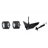 аксессуар к садовой технике комплект навесного оборудования Patriot Garden Florida (490001310), плуг, грунтозацепы, сцепка