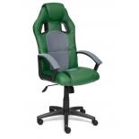 компьютерное кресло Tetchair DRIVER кож/зам/ткань, зеленый/серый