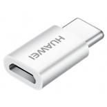 кабель / переходник для телефона переходник Huawei CP52 (microUSB — USBc, F/M), белый