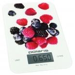кухонные весы Polaris PKS 0740DG Berries, белые c рисунком