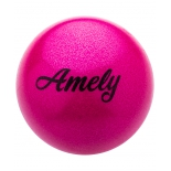 мат гимнастический Amely AGB-103 (15 см) розовый, с насыщенными блестками
