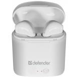 Bluetooth-гарнитура Defender Twins 63630 белая