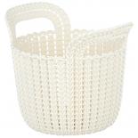 корзина для белья CURVER knit xs 3л (03671-X64-00) белая
