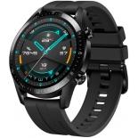 Умные часы Huawei Watch GT 2 Fluoroelastomer Strap, черные/черные с матовым 55024335