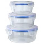контейнер для хранения Eley ELSТP002B Набор круглых 390 мл: 640 мл; 970мл, синие