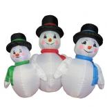 сувенир Торг-хаус Пингвин новогодний,Надувная фигура  1,2м