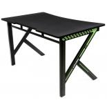 стол компьютерный AKRacing GAMING DESK (116 x 75 x 73 см), черно-зелёный