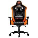 игровое компьютерное кресло Cougar Armor Titan черное/оранжевое
