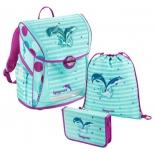 рюкзак детский Step By Step BaggyMax Fabby, 3 предмета, Дельфины