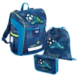 рюкзак детский Step By Step BaggyMax NIFFTY,3 предмета, Soccer,  синий