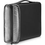 сумка для ноутбука Чехол HP Carry Sleeve 14 (3XD34AA), черный/серебристый
