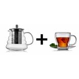 чайная пара Walmer, Cordial, 250мл, Serena, 650мл, боросиликатное стекло