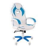 игровое компьютерное кресло Chairman game 16 (7030049), белое/голубое