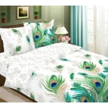 комплект постельного белья BRUNO 2-спальный с евро простыней хлопок Малахит 70х70 см