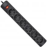 сетевой фильтр Defender DFS 155, черный