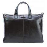 сумка для ноутбука Piquadro Blue Square CA4021B2/N натур.кожа, черный