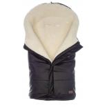 конверт для новорожденного Nuovita Siberia Lux Bianco зимний меховой черный