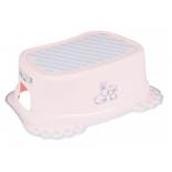 набор аксессуаров для ванной комнаты Tega baby Кролики, антискольз.,подставка, розовая