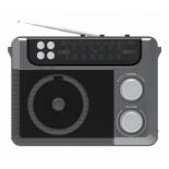 радиоприемник Ritmix RPR-200 (СВ, КВ, УКВ, фонарь, USB, SD, microSD), серый