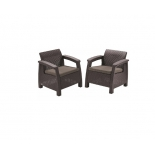 кресло садовое Keter CORFU II DUO коричневые 2 шт